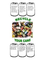 Lunchroom recycle your cans